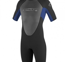 O'Neill Wetsuits Youth 2 mm Reactor Spring Suit, Black/Pacific/Black, 6